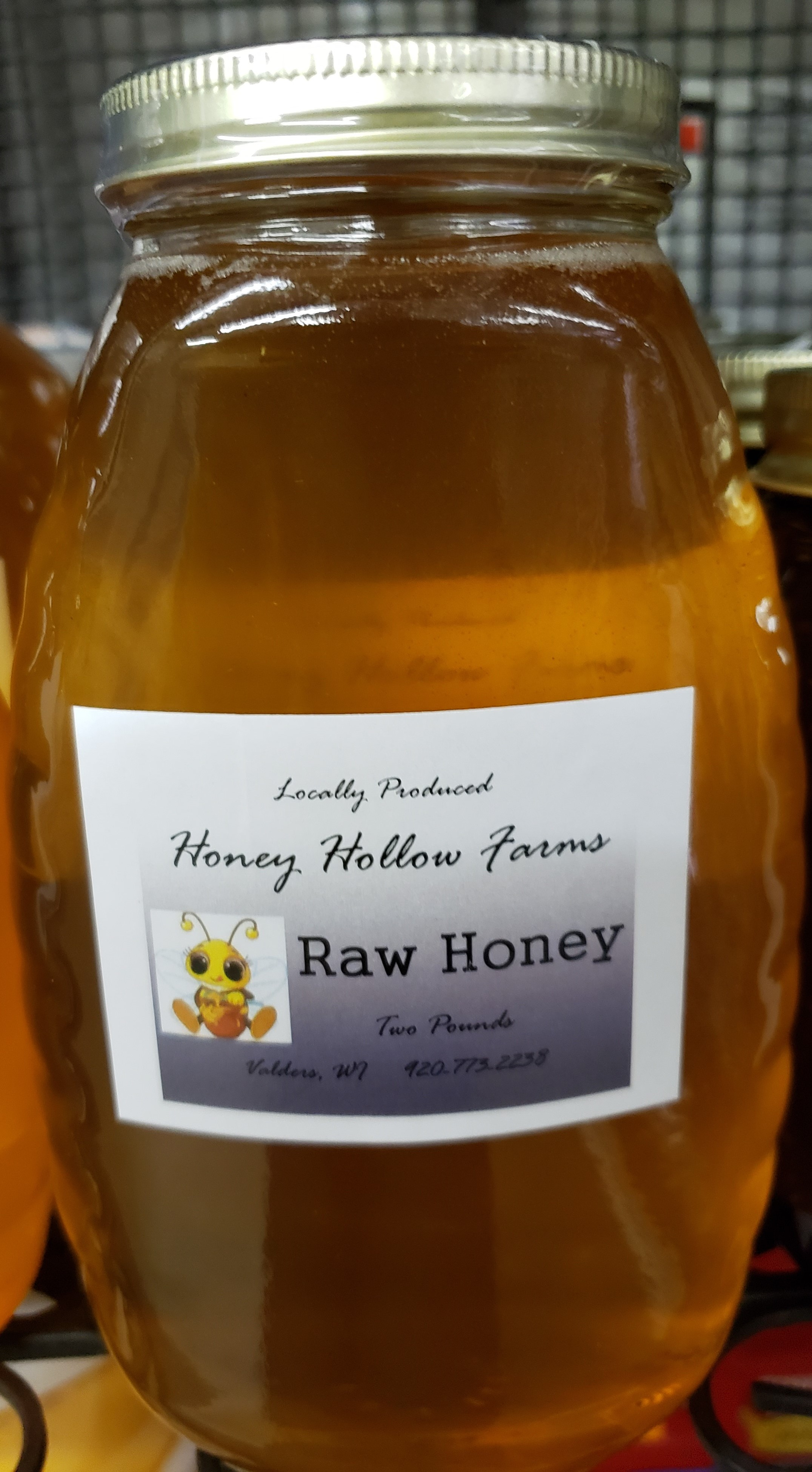 Honey Hollow Farms Local Honey - 2 Pound (Pickup Item Only)