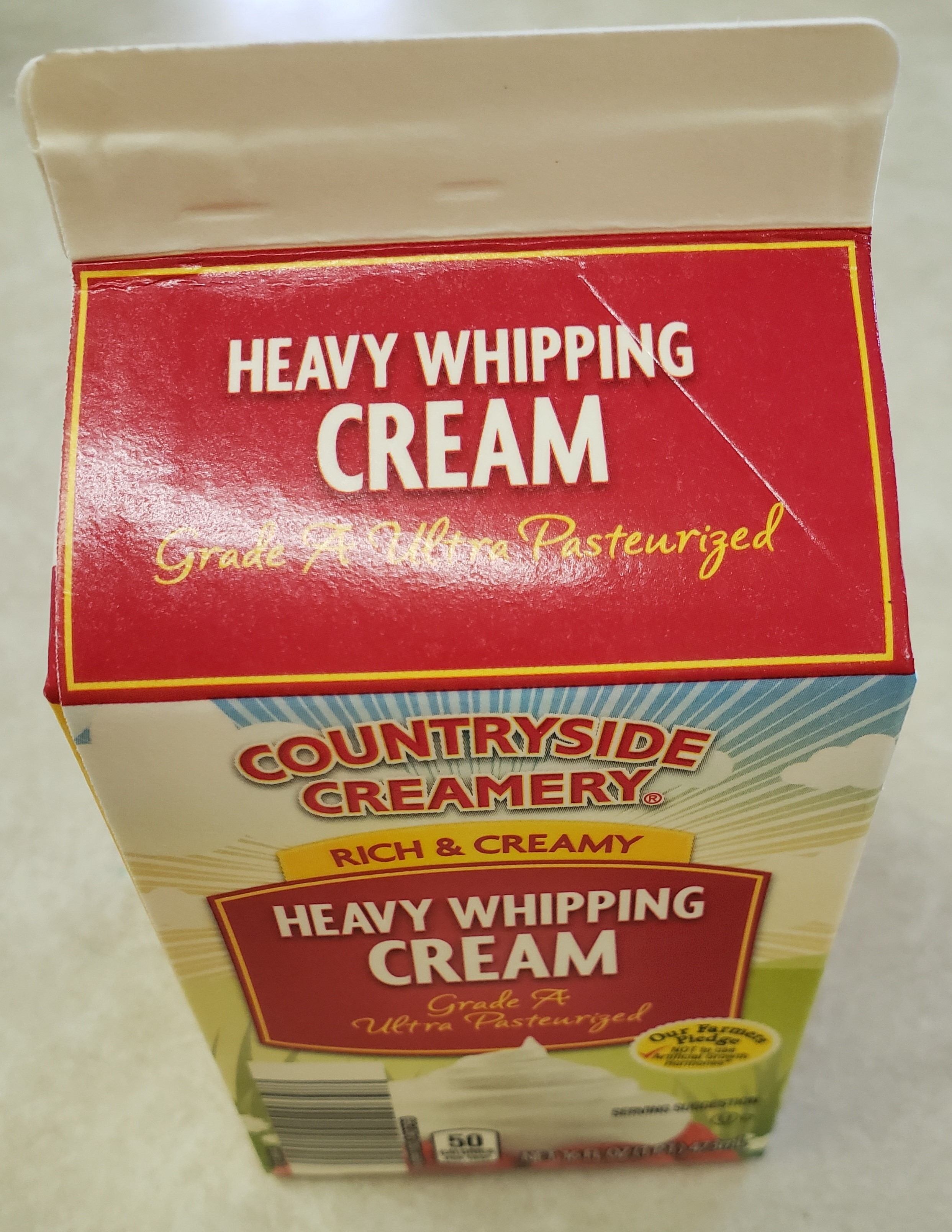Heavy Whipping Cream-16oz carton (Pickup Item Only)