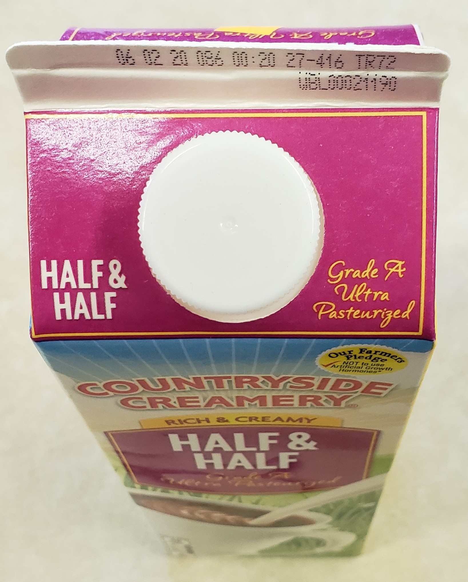 Half and Half 32oz carton-(Pickup Item Only)