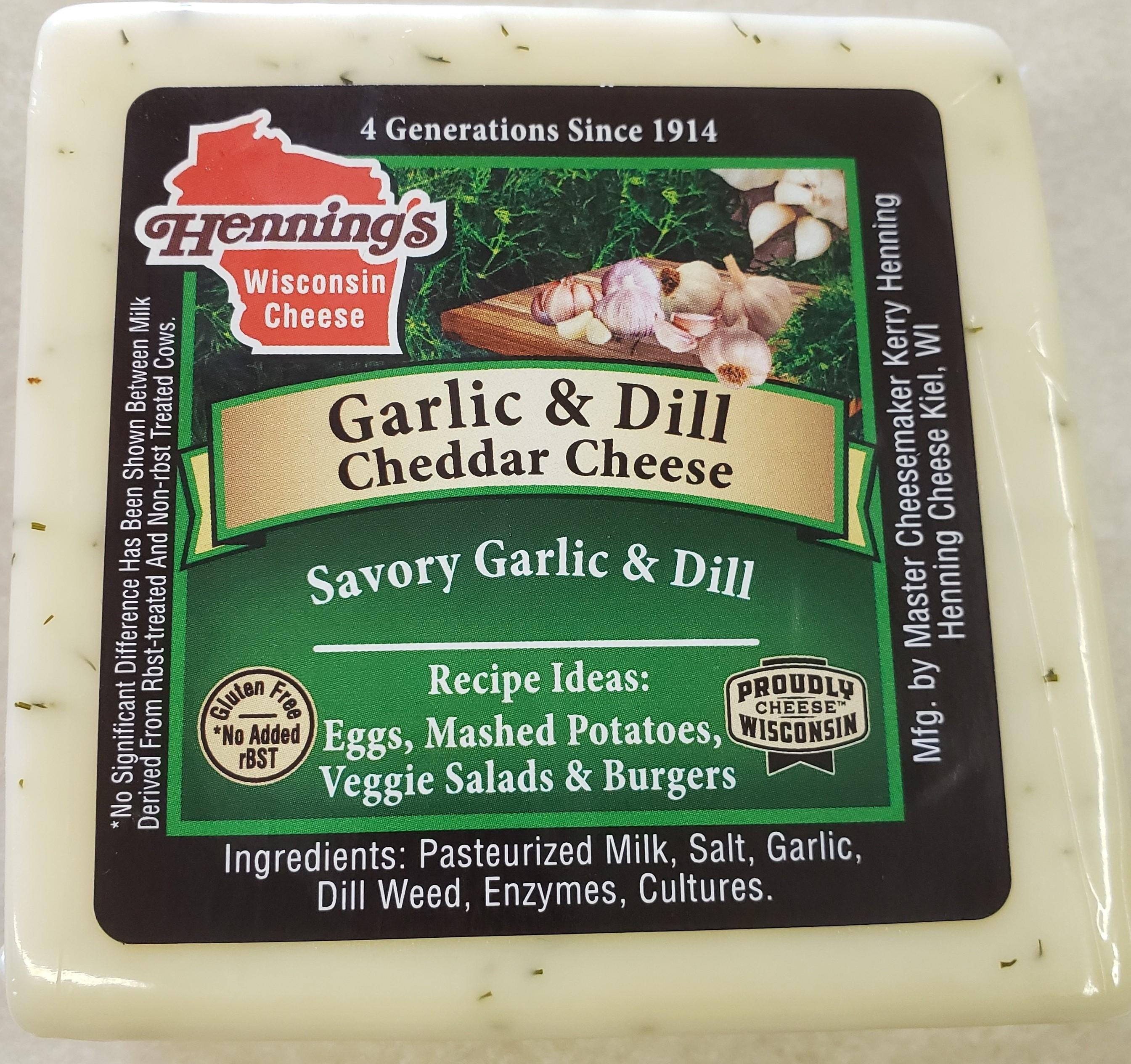 Henning's Garlic & Dill White Cheddar