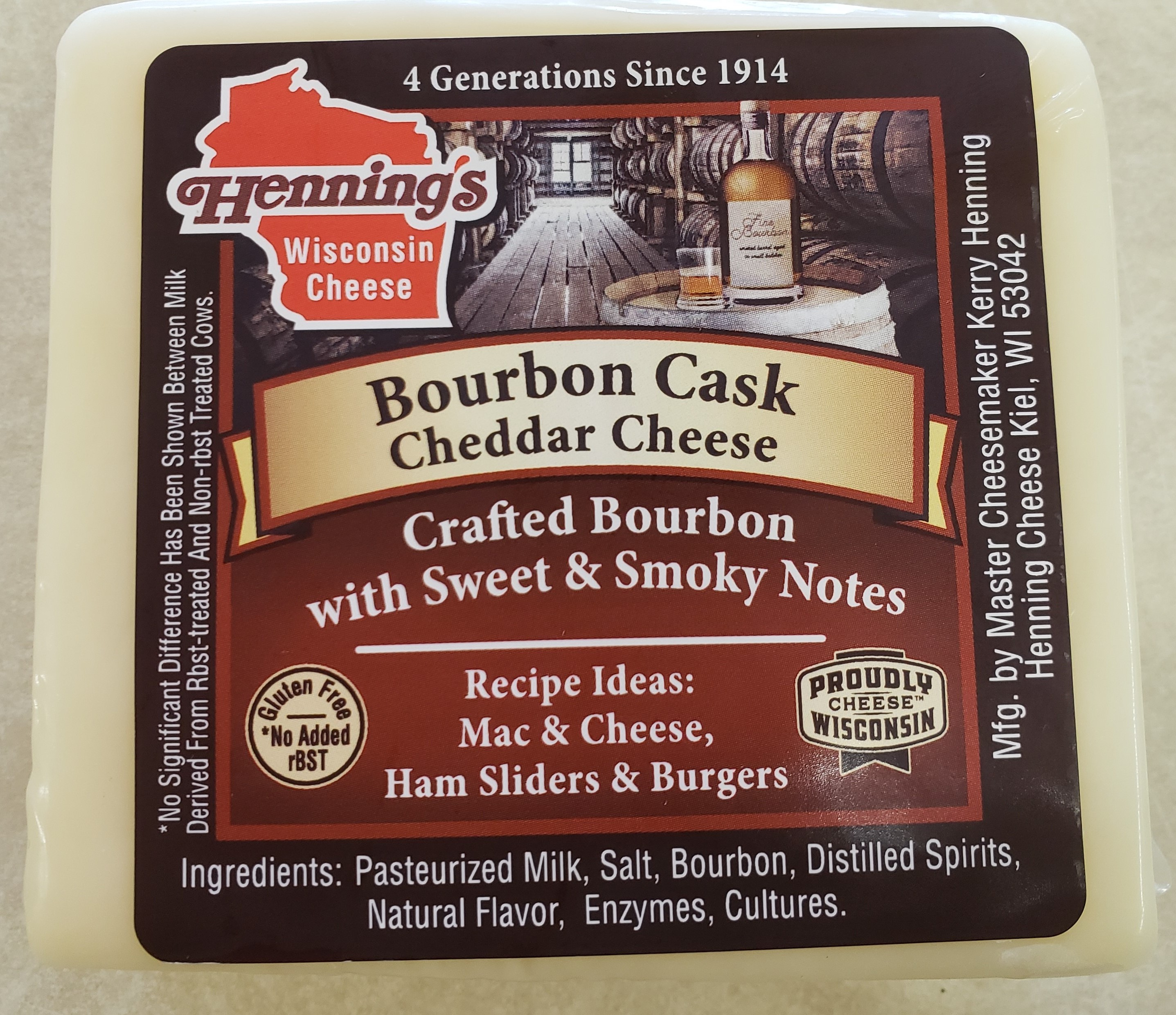 Henning's Bourbon Cask Cheddar Cheese
