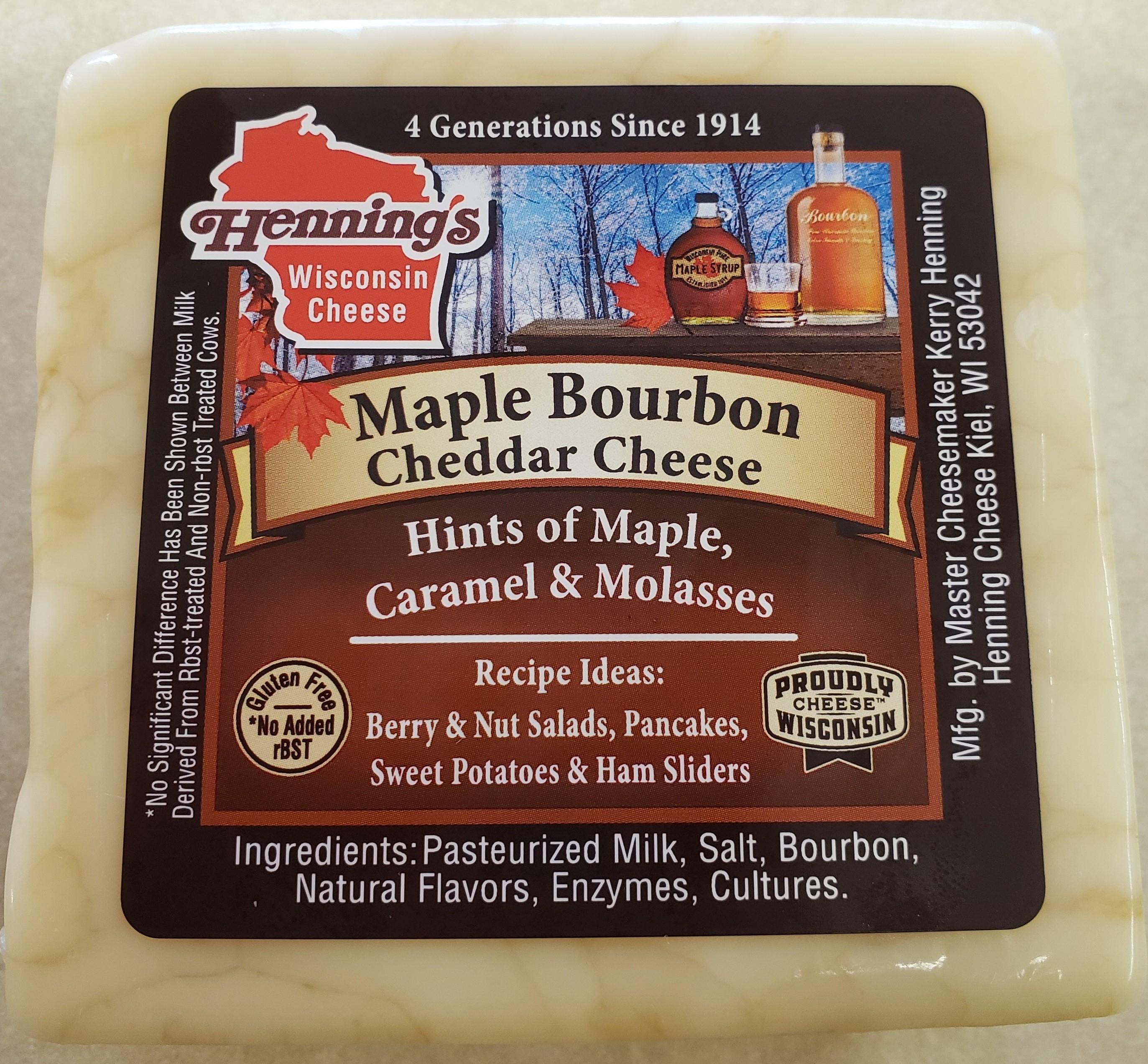 Henning's Maple Bourbon Cheddar Cheese