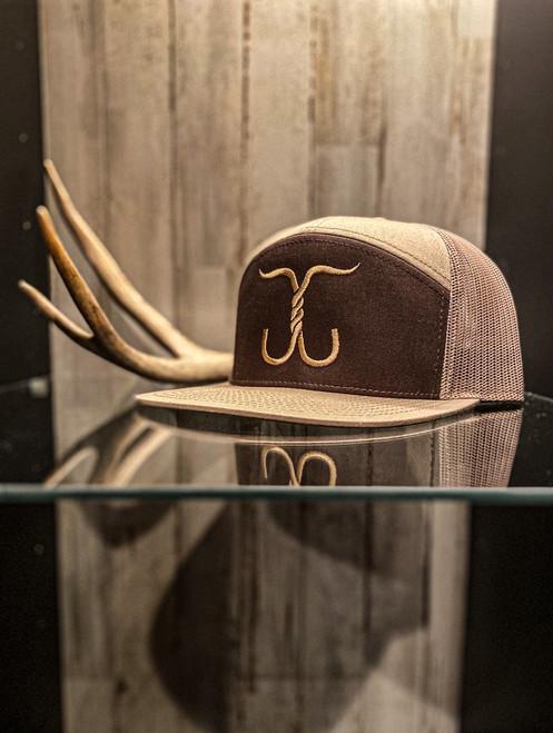 Cowboy Series Snapback - Khaki/brown