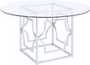 "Collins Chrome 54"" Wide Dining Table"