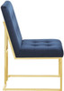 Collins Blue and Gold Chair