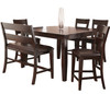 Kurt Dark Brown 6 Piece Counter Height Set