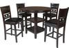 "LABONZ Espresso 42"" Wide Counter Height Table"