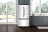 MAZTRA F21 White 18 cu. ft. French Door Refrigerator, Counter Depth