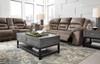 "PERSES Oak 93"" Wide Reclining Sofa"