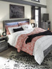 APTON Gray Lighted Bedroom Set