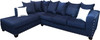 """EXELLA Blue  113"""" Wide Sectional"""