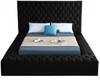 AZELL Black Velvet Storage Bed