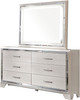 "DEISS Silver 55"" Wide Dresser & Mirror"