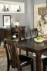 NELA Dark Brown 7 Piece Dining Set