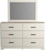 GATELL White Dresser & Mirror