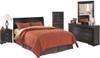 Paris Black Headboard Bedroom Set
