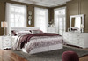 Paris White Headboard Bedroom Set