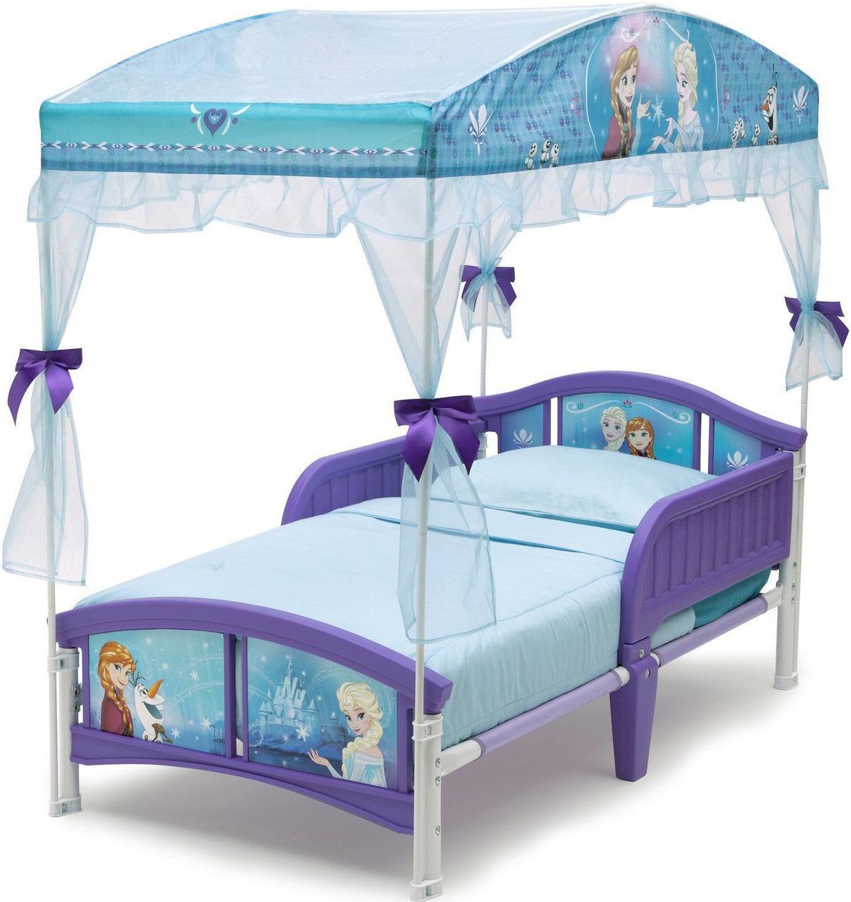 more photos 1c0c8 de773 Frozen Canopy Toddler Bed