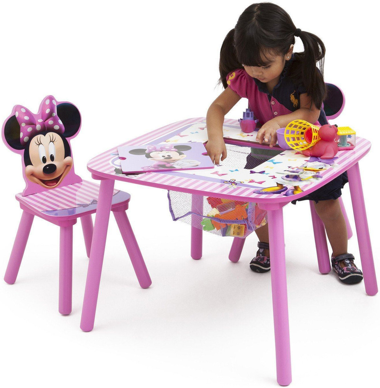 Peachy Minnie Mouse Table Chair Set With Storage Pdpeps Interior Chair Design Pdpepsorg