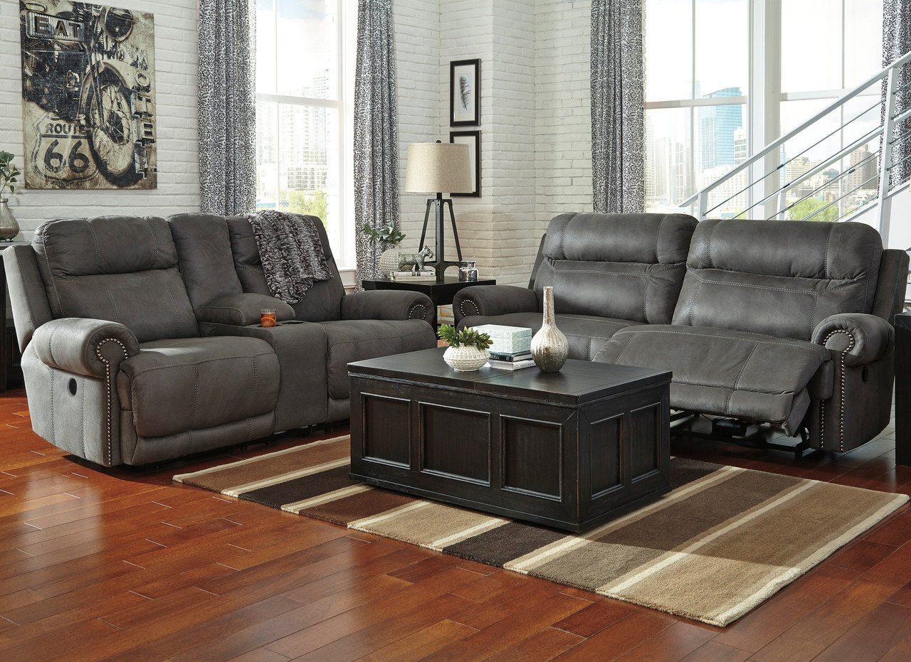 Frederick Gray Reclining Sofa Loveseat Cb Furniture