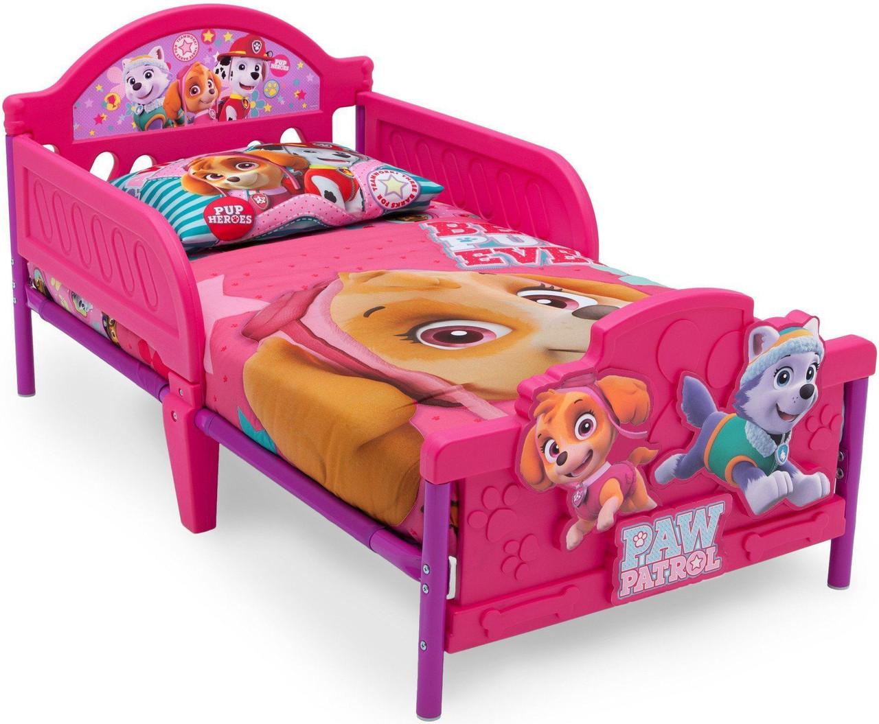 PAW Patrol - Skye & Everest - 3D Toddler Bed - CB Furniture
