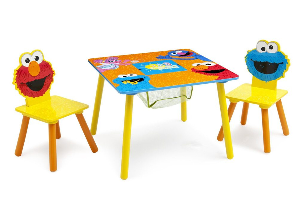 Marvelous Sesame Street Puzzle Table Chair Set With Storage Pdpeps Interior Chair Design Pdpepsorg