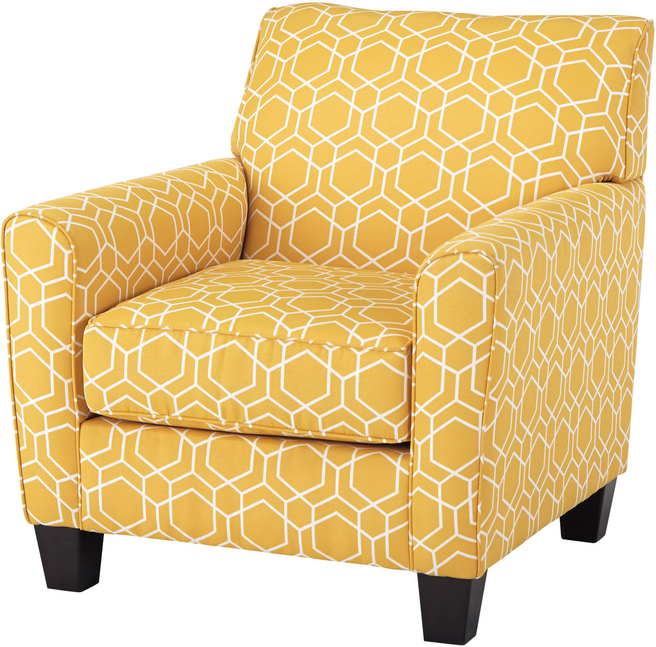 Astonishing Kenmir Yellow Accent Chair Beatyapartments Chair Design Images Beatyapartmentscom