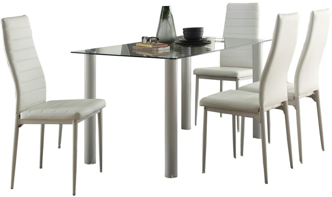 Anik White 7 Piece Dining Set