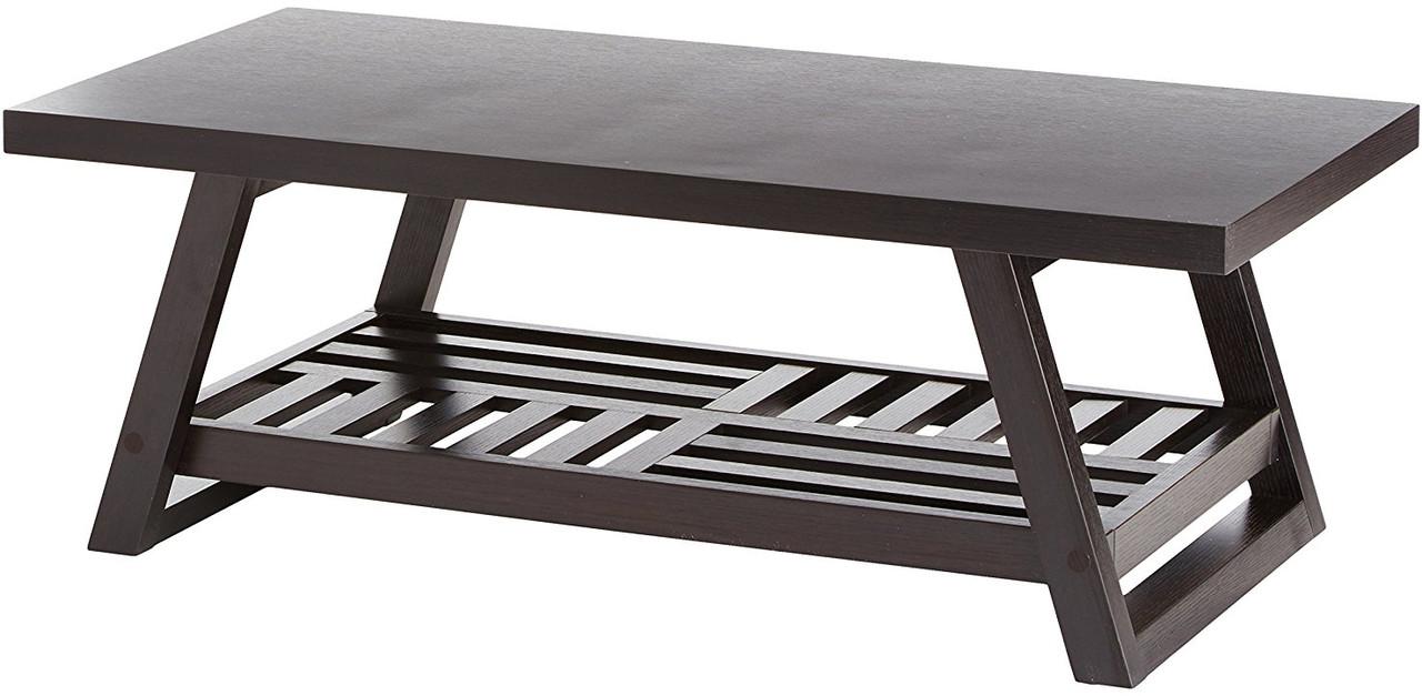 Nash Dark Brown Coffee Table Cb Furniture