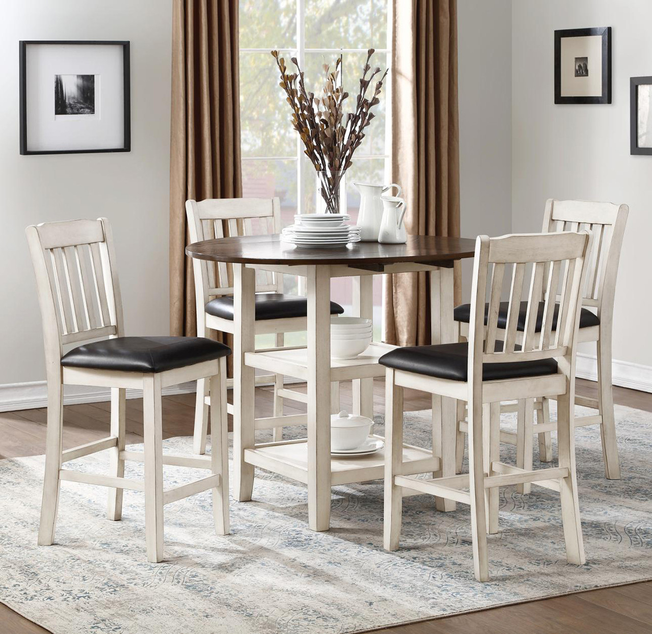 Coral 5-PC Counter Height Dining Set - CB Furniture
