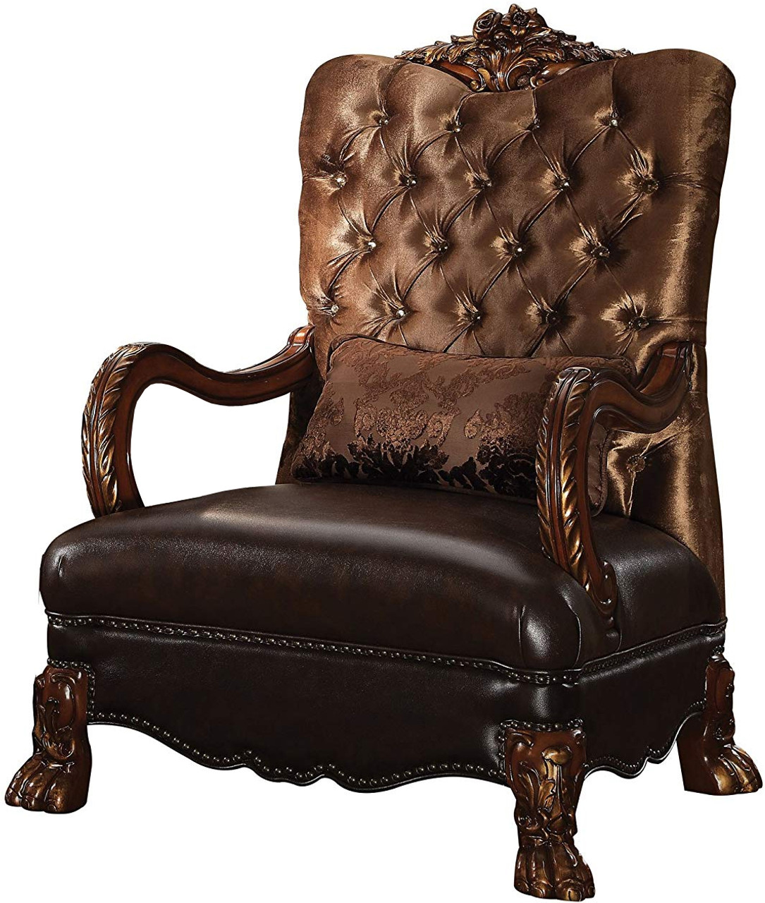 Ackerley Brown Arm Chair Cb Furniture