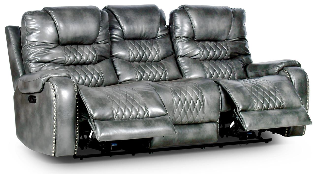 Rover Grey Powered Reclining Sofa & Loveseat