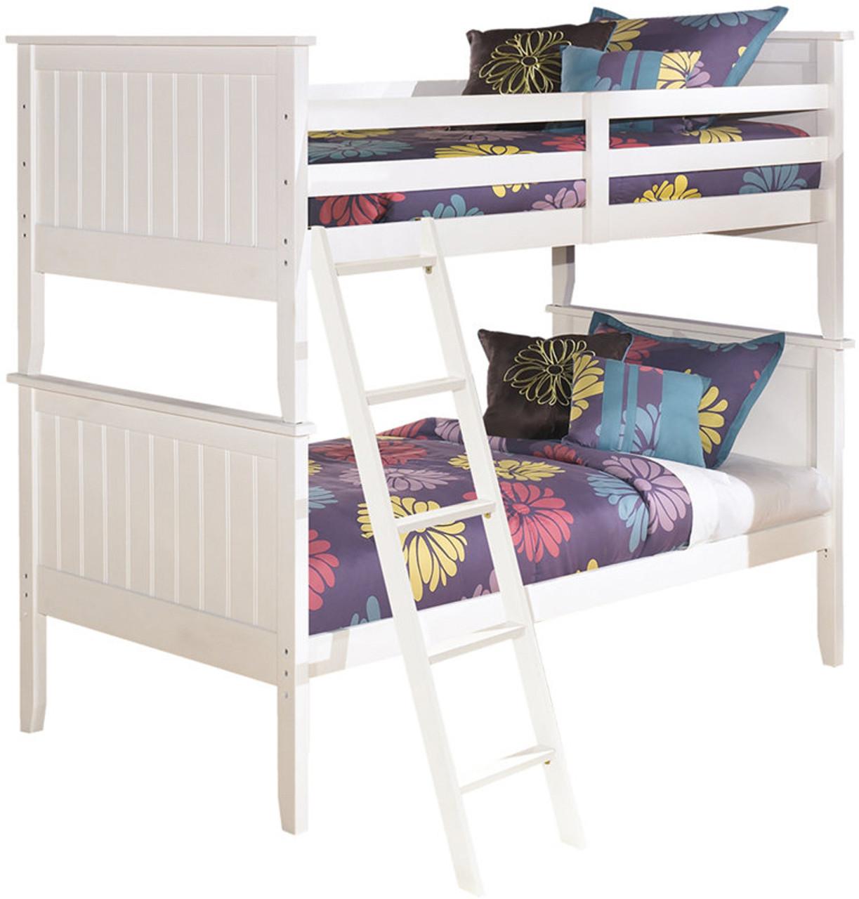 Elli White Bunk Bed Bedroom Set Cb Furniture
