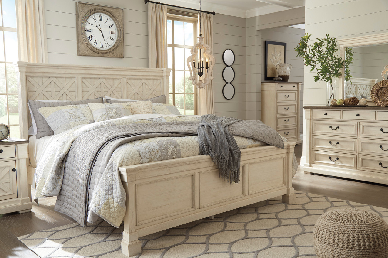 Fleming White Bedroom Set Cb Furniture