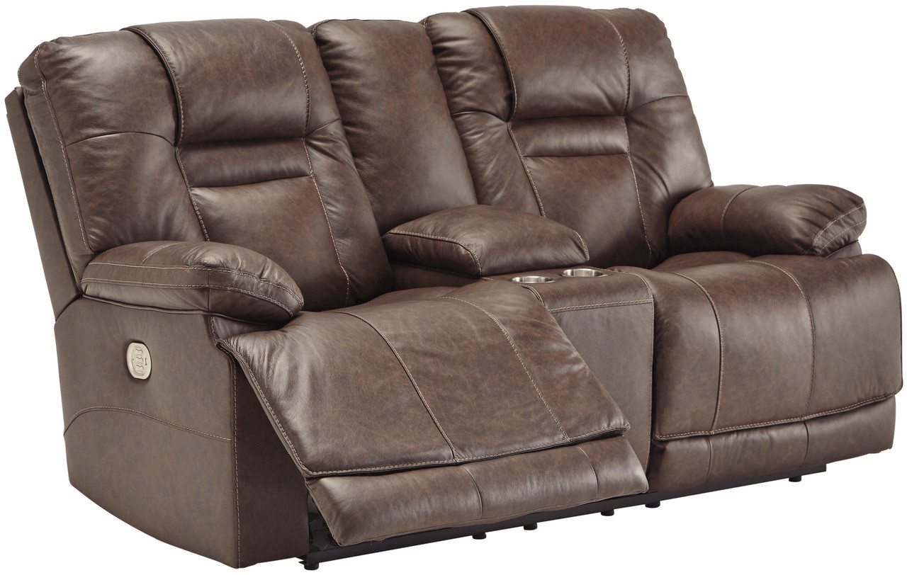 Astonishing Wesley Top Grain Leather Reclining Loveseat With Adjustable Lumbar And Headrests Ibusinesslaw Wood Chair Design Ideas Ibusinesslaworg
