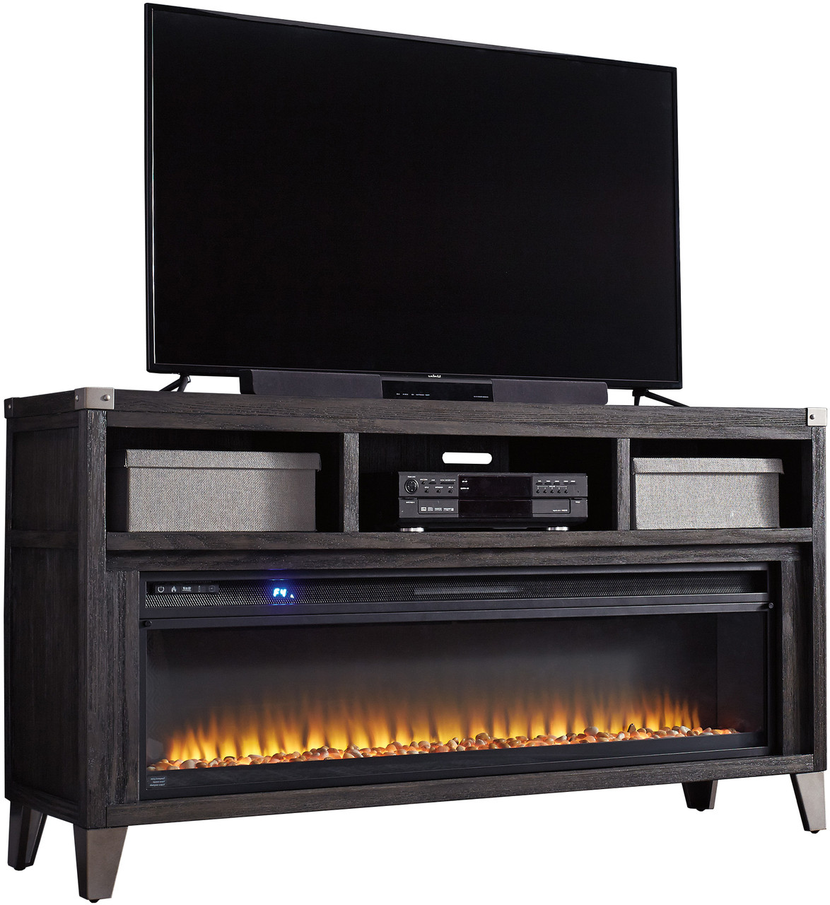 Kreimer 65 Wide Tv Stand With Fireplace Cb Furniture
