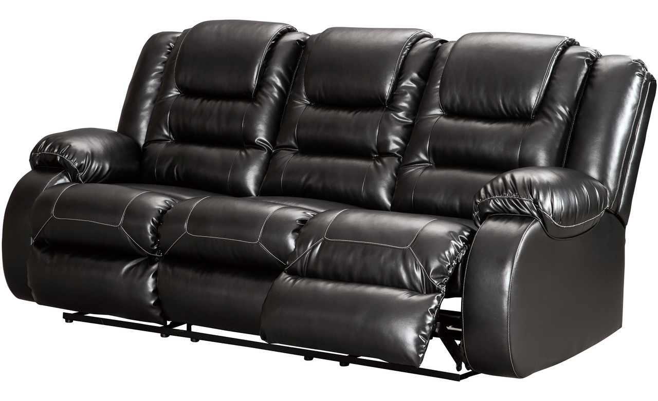 Holten Black Reclining Sofa