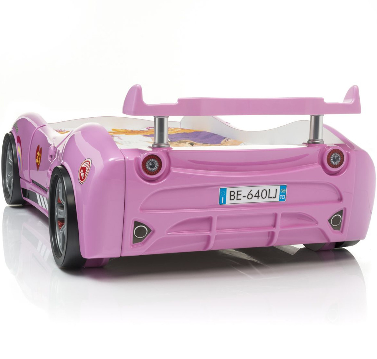 Coupe Pink Lighted Race Car Bed Cb Furniture