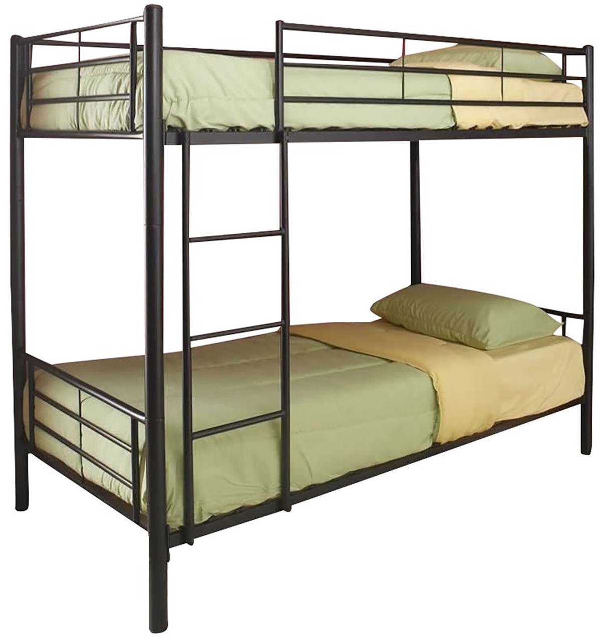 Picture of: Kenny Black Twin Over Twin Bunk Bed Cb Furniture