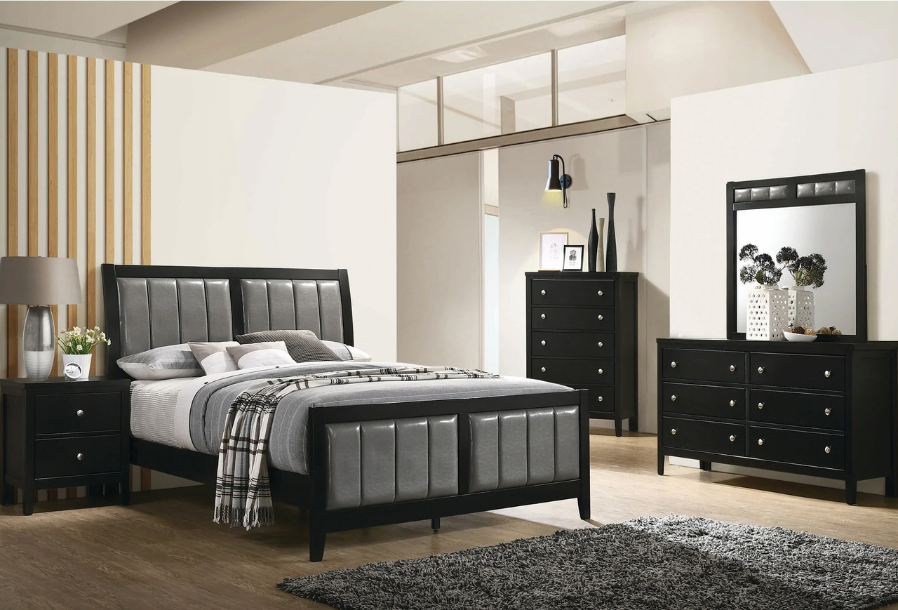 Zade Black Bedroom Set