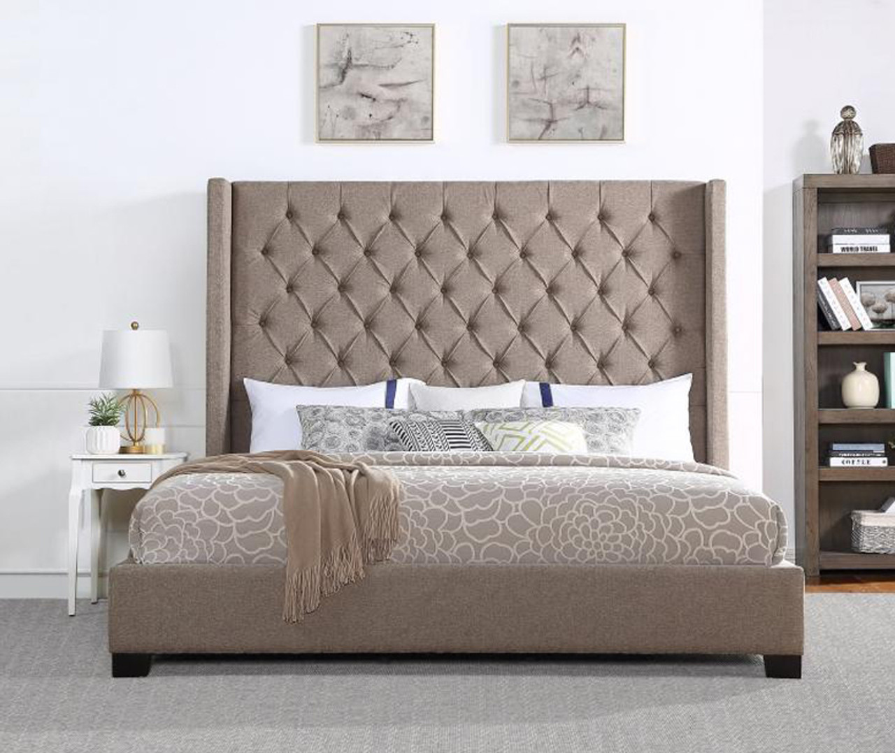 Neil Brown Tufted Bed Cb Furniture