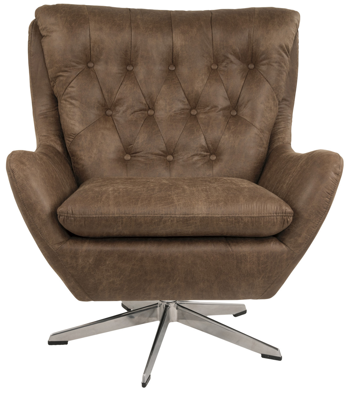 Mae Brown 35 Wide Swivel Chair