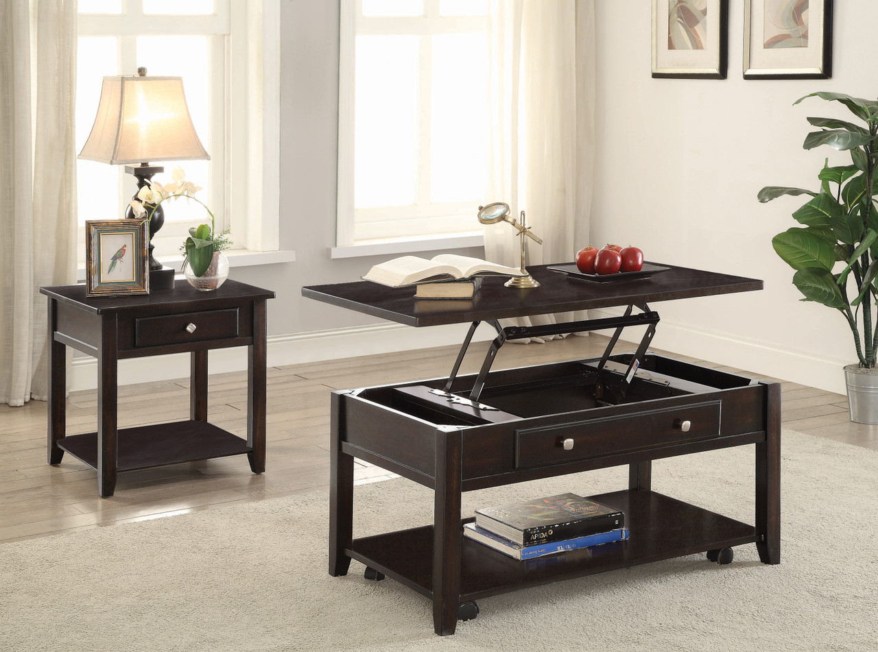 Cole Lift Top 3 Piece Table Set Cb Furniture