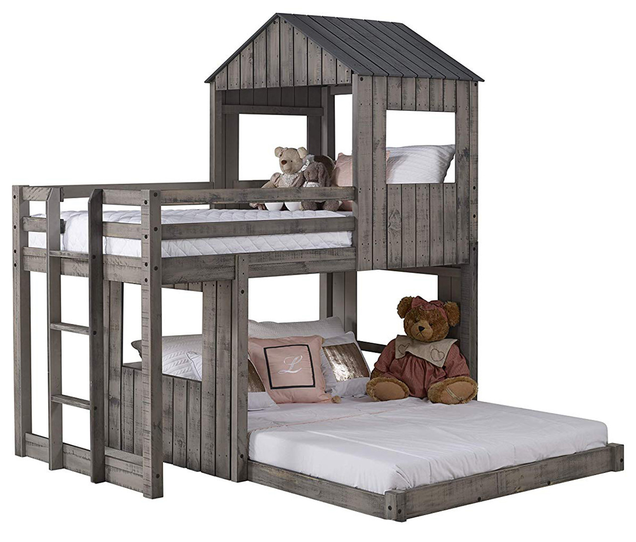 Picture of: Stan Rustic Grey Twin Over Full Tree House Loft Cb Furniture