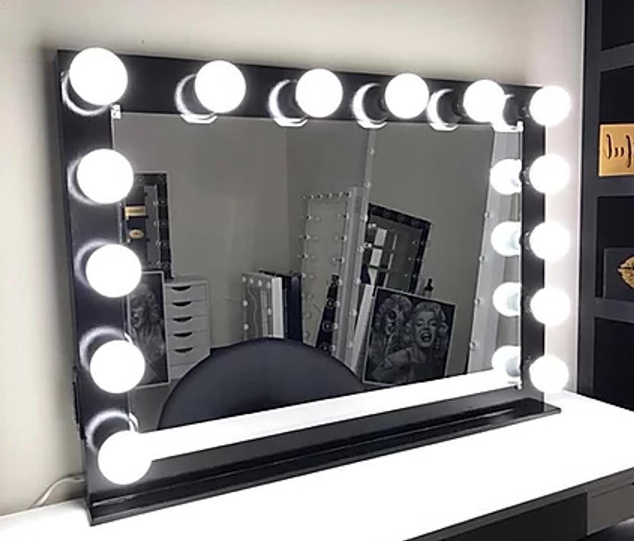 Kaeli Black 42 Wide Vanity Mirror Cb Furniture