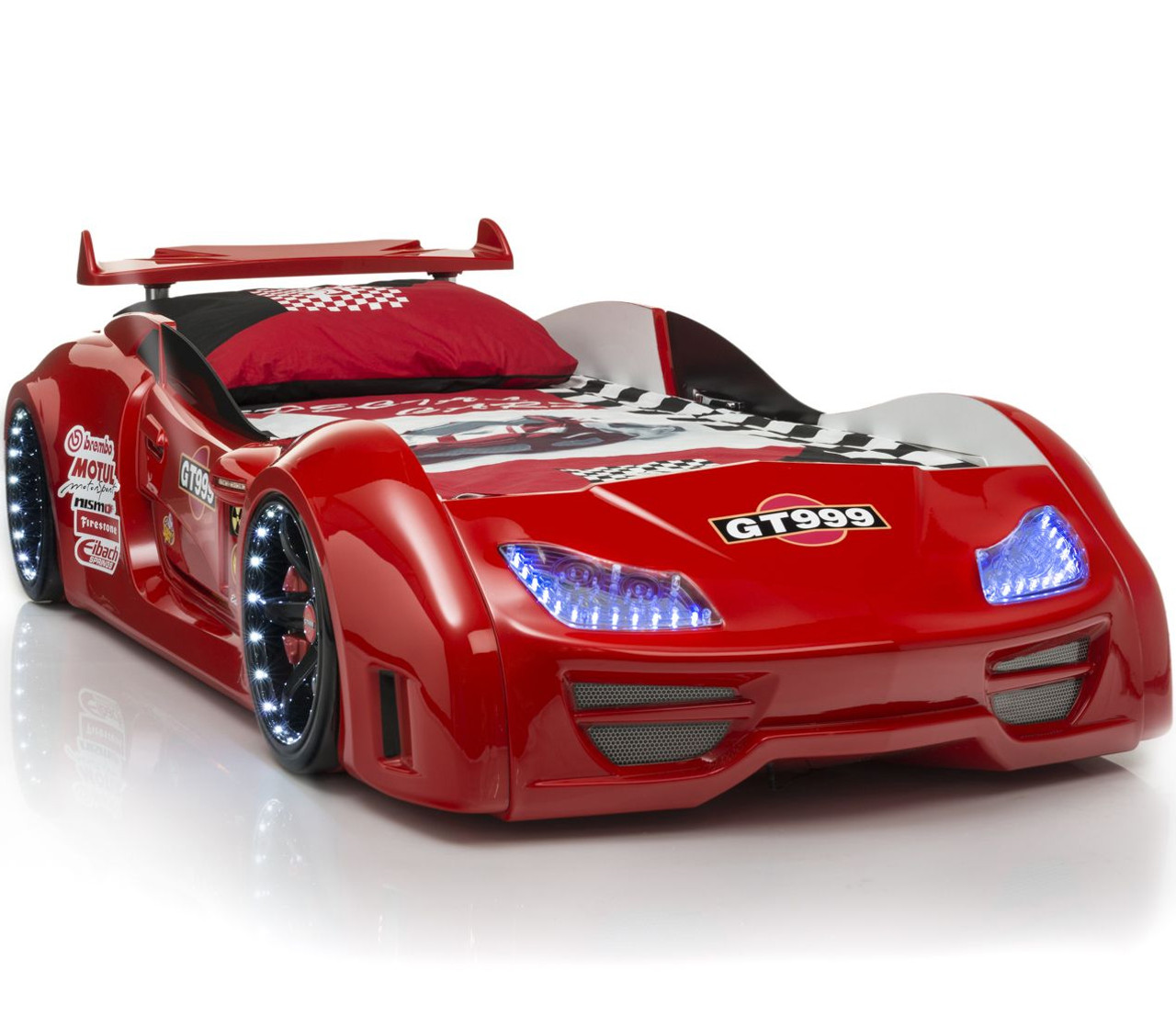 Gt999 Red Lighted Race Car Bed Cb Furniture