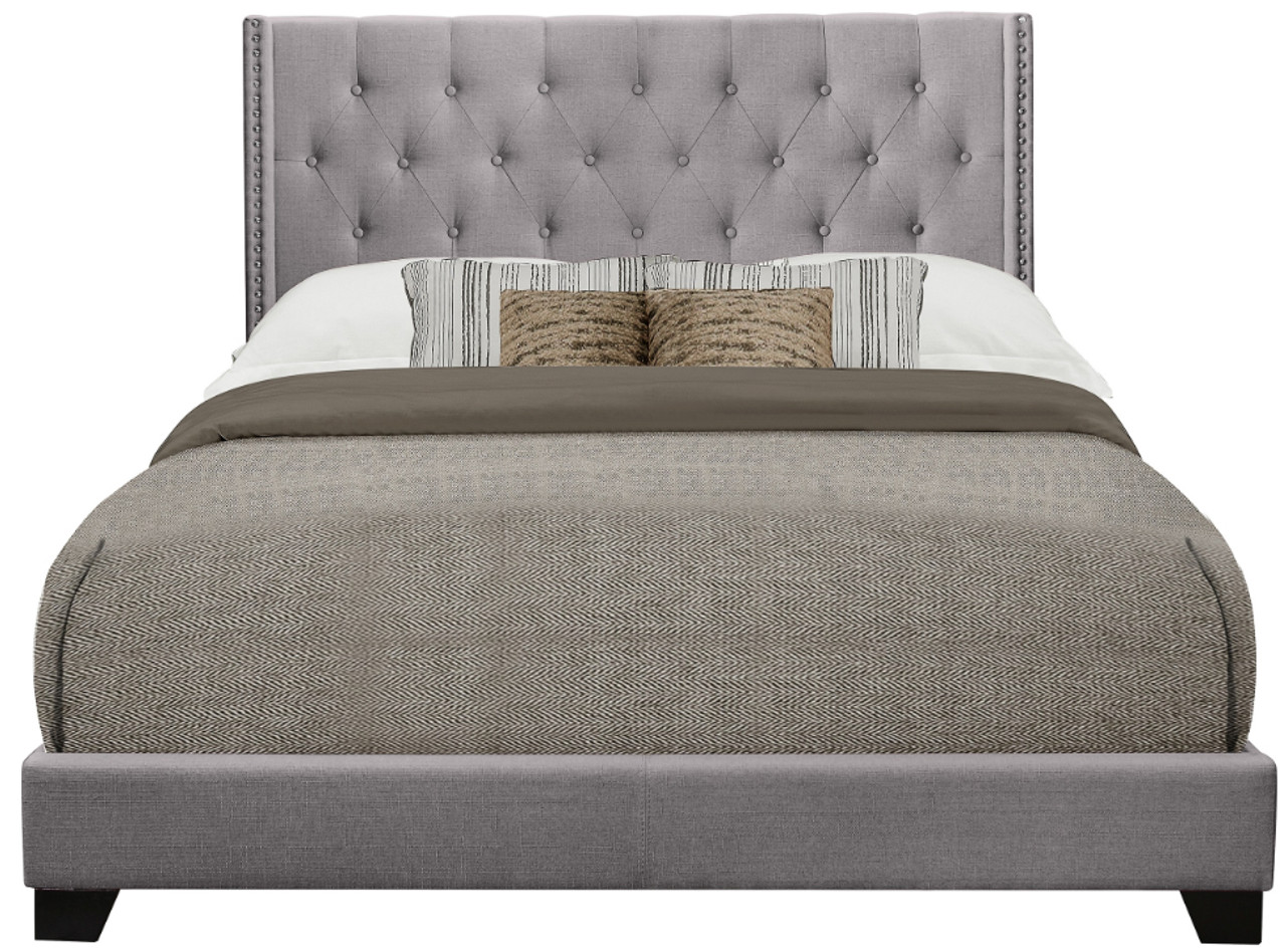 Serenity Grey Tufted Bed Cb Furniture