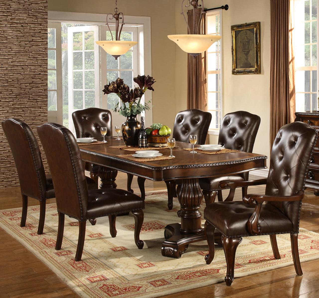 Bradford Dark Brown Dining Table Cb Furniture
