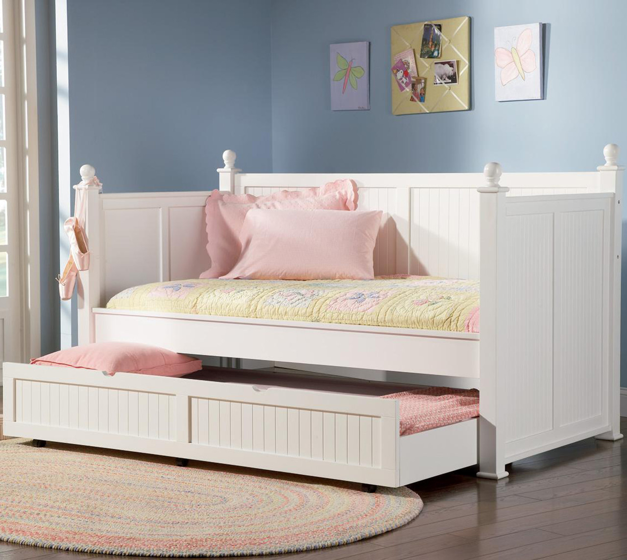 Cottage Hill White Day Bed W Trundle Cb Furniture