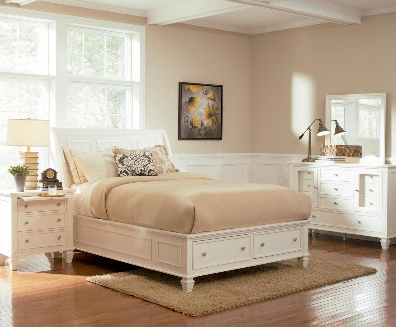 Vivienne White Platform 6-PC Bedroom Set